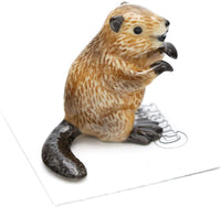 "Little Critterz ""Paddle Beaver Hand Painted Porcelain Figurine"