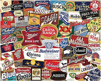 Puzzles with Hart Boomers American Beer Labels  Artist Stephen M Smith 1000 Piece Puzzle
