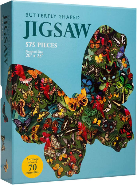 "Babalu Butterfly Jigsaw Puzzle | Challenging Multi Shape Puzzle for Families | 575 Pieces - 20"" x 13"""