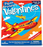 Playhouse Pop Out Paper Airplanes 28 Card Super Valentine Exchange Pack for Kids