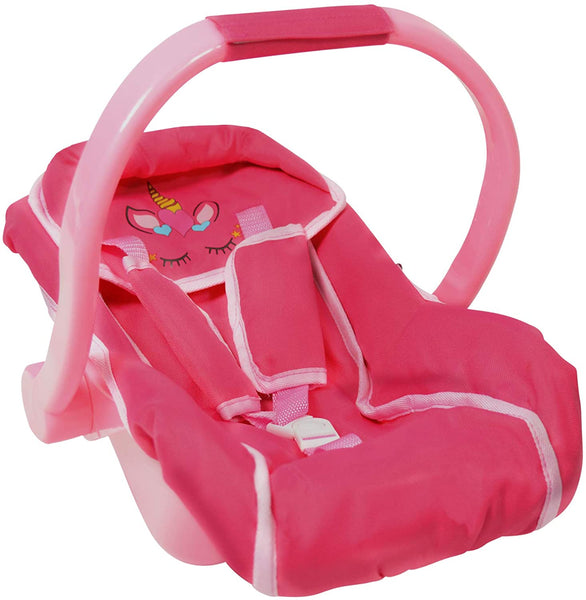 Unicorn Baby Doll car seat