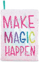 Style.Lab Fashion Angels Magic Sequin Journal Unicorn / Make Magic Happen  Reversible Sequin, 80 Page Lined Journal