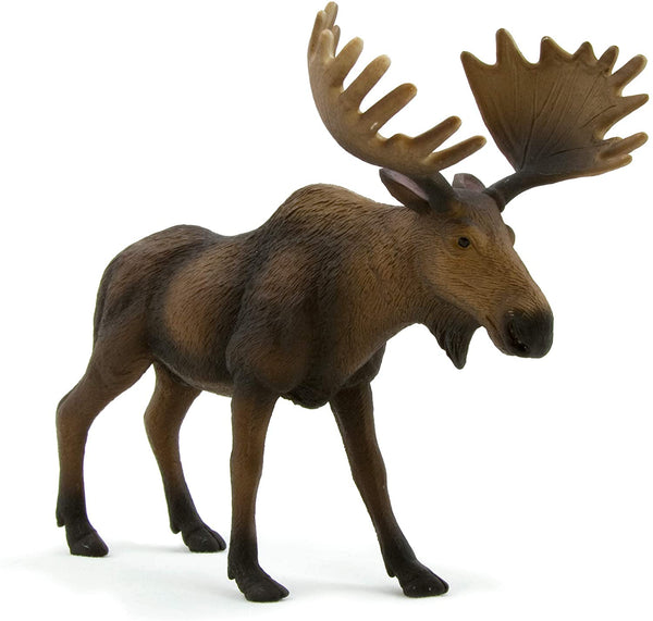 MOJO European Elk (Moose) Realistic International Wildlife Toy Replica Hand Painted Figurine