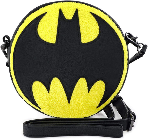Loungefly Batman Logo Chenille Crossbody Bag