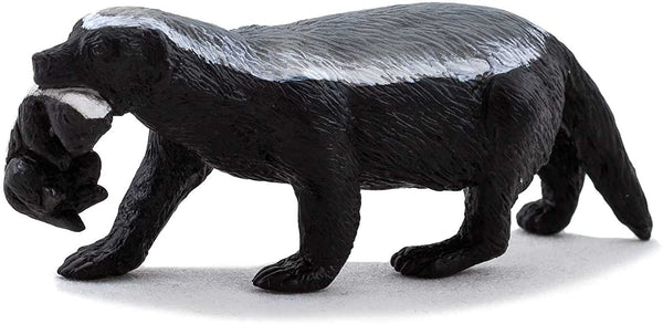 MOJO Honey Badger Female with Cub Realistic International Wildlife Hand Painted Toy Figurine