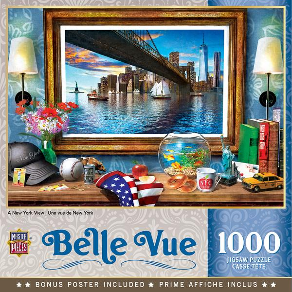 MasterPieces Belle Vue Puzzles Collection - A New York View 1000 Piece Jigsaw Puzzle