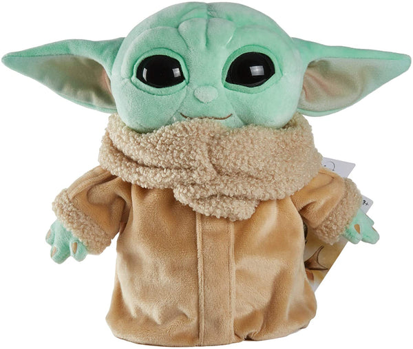 Star Wars The Child Plush Toy, 8-in Small Yoda Baby Figure from The Mandalorian, Collectible Stuffed Character for Movie Fans of All Ages, 3 and Older