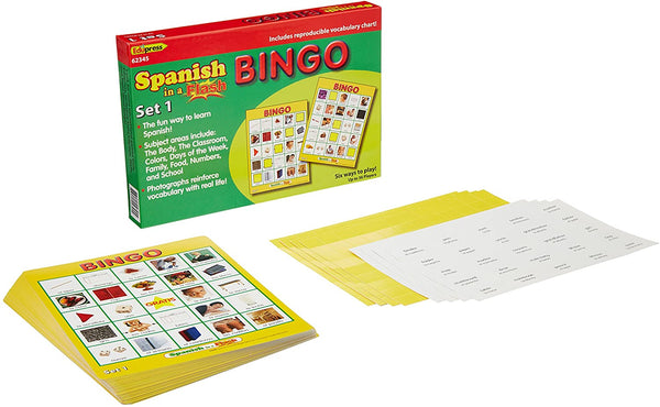 Edupress Spanish in a Flash Bingo Game Set 1