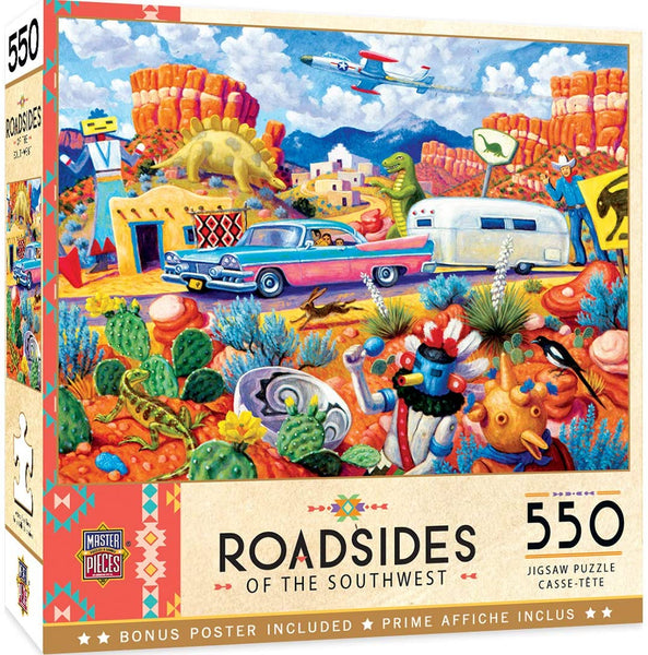 MasterPieces Roadsides of The Southwest 550 Puzzles Collection - Off The Beaten Path 550 Piece Jigsaw Puzzle