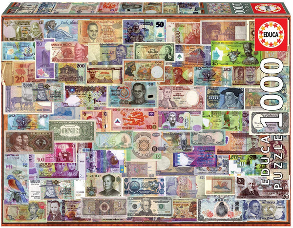 Educa 1000 Pc World Banknotes Puzzle