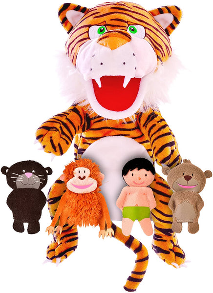Fiesta Storybook Hand Puppet and Finger Puppets Set  - Jungle Book