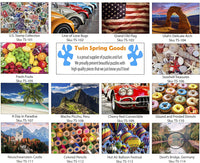 Twin Spring Goods 1000 Piece Jigsaw Puzzle, U.S. Stamp Collection, 1,000 pcs
