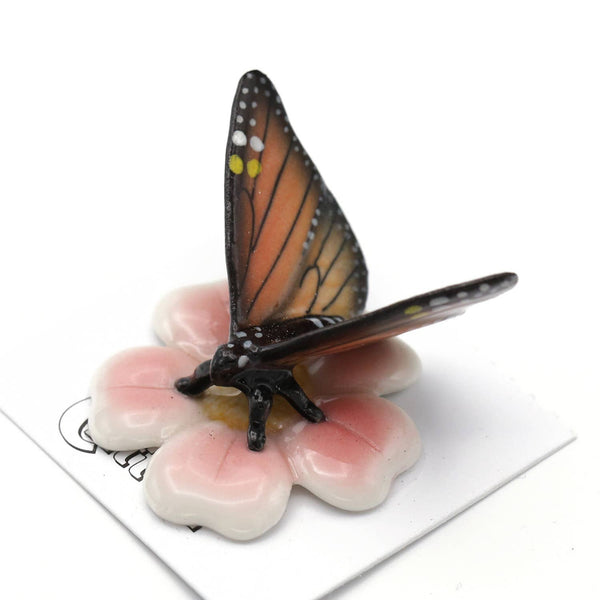 "Little Critterz ""Milkweed"" Monarch Butterfly Porcelain Miniature"
