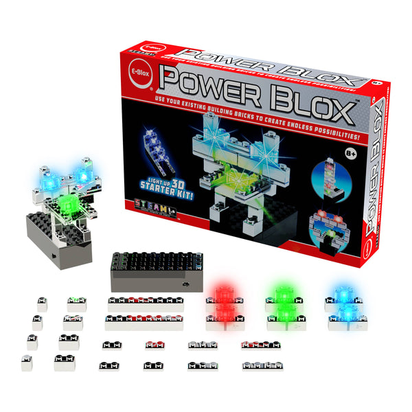 EBlox - Power Blox Starter - Build a Shiny Robot With Red Eye