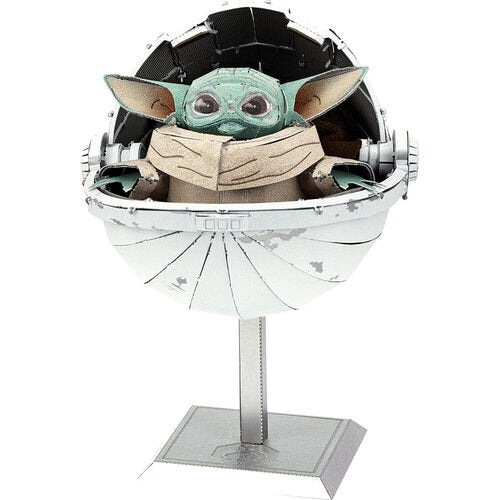 Metal Earth Fascinations Iconx Series Star Wars Mandelorian The Child Baby Yoda 3D Metal Model Kit