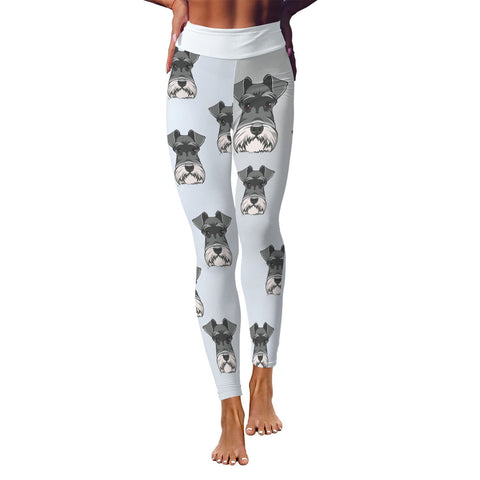 Schnauzer Mom Leggings