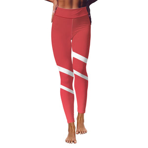 FWLR Red Striped Leggings