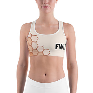 FWLR Peach Geometric Racer Back Top