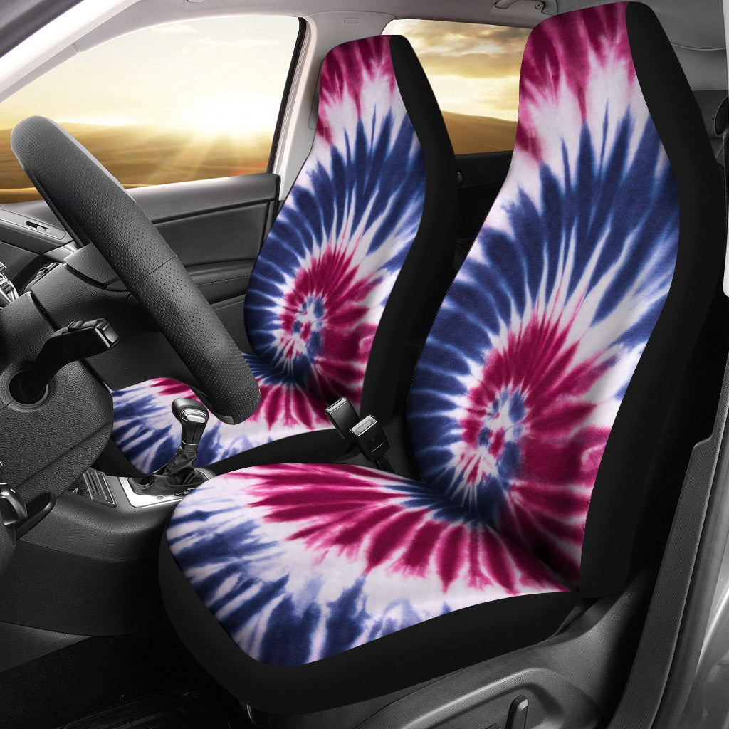 Red White Amp Blue Tie Dye Car Seat Covers Abstracttrendz