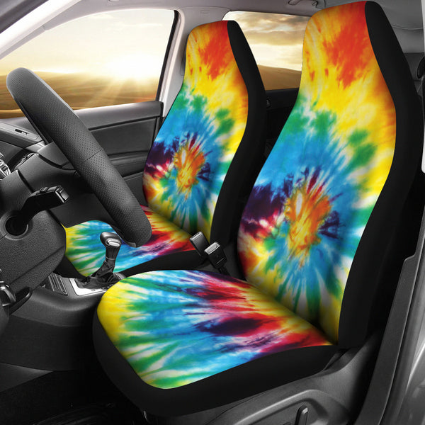 Colorful Tie Dye Abstract Art Car Seat Covers Abstracttrendz