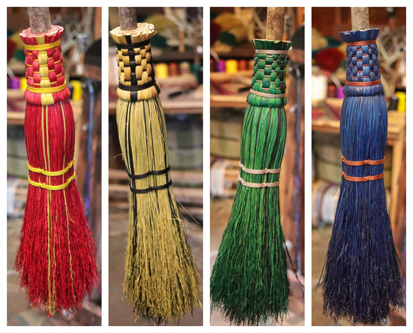 Wizard Broom - House Colors - Backwoods Broom Company