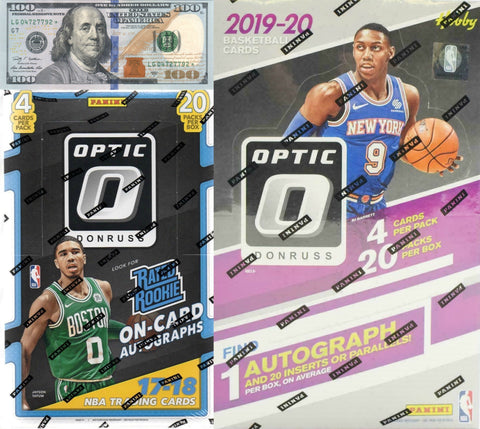 $100 Giveaway! 2019-20 + 2017-18 Panini Donruss Optic 2-Box Break #3 *Random Teams*