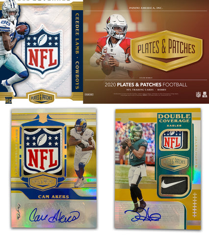 (Wed) 2020 Panini Plates & Patches Football 12-Box Case Break #1 *PYT*