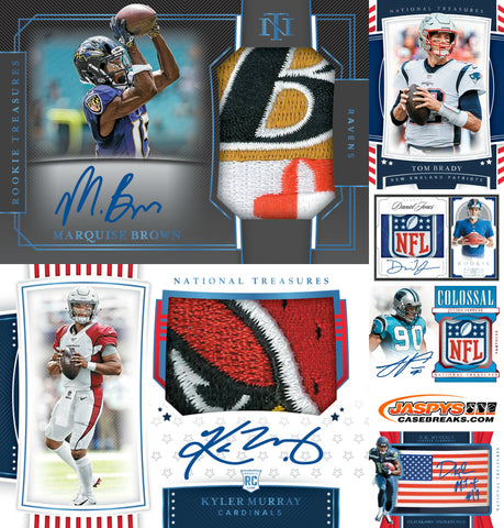 2019 Panini National Treasures Football 4-Box Case Break #13 *PICK YOUR TEAMS*