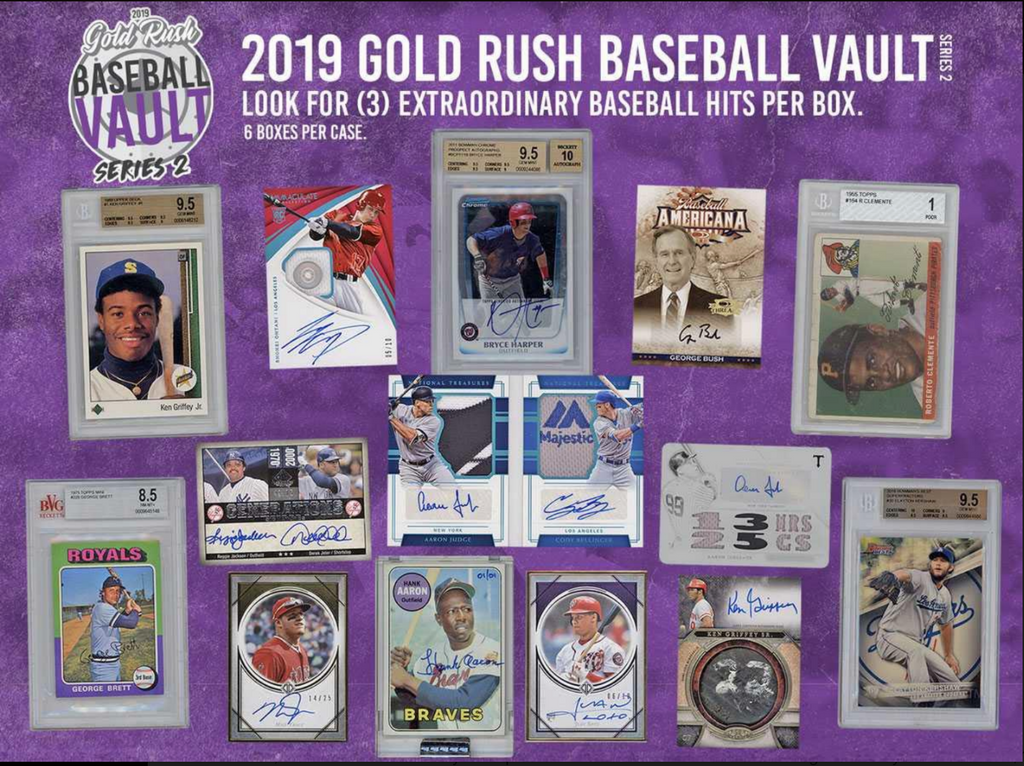 (EARLYBIRD PROMO) 2019 Gold Rush Baseball Vault Series 2 3-Box Break #2  *RANDOM TEAMS*