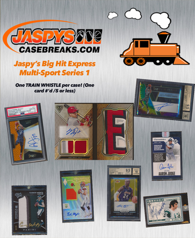 (2/15) Jaspy's Big Hit Express Multi-Sport Series 1 / 8-Box Case Break #6 *Random Teams*