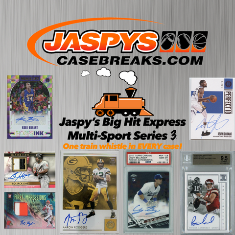 Jaspy's Big Hit Express Multi-Sport Series 3 / 8-Box Case Break #19 *Random Teams*