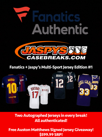 Jaspy's + Fanatics Autographed Multi-Sport Jerseys 2-Box Break #32