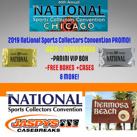 *$$THOUSANDS$$ IN PRIZES!* Jaspy's 2019 National Sports Collectors Convention Promo (IN HERMOSA BEACH)!
