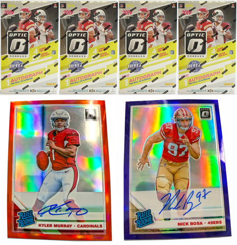 *READ* 2019 Panini Donruss Optic Football Hobby 3-Box Break #8 *TIERED RANDOM TEAMS* *VALUE*