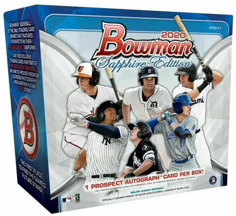 CAN BREAK TODAY  - $100 GIVEAWAY IF 2+ TEAMS) 2020 Bowman Sapphire 5-Box Break #5 *PYT*