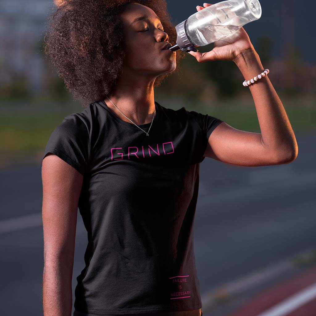 WOMEN'S GRIND TEE - PINK by Grind Legacy Apparel. Educate, Execute, Endure, and Empower.