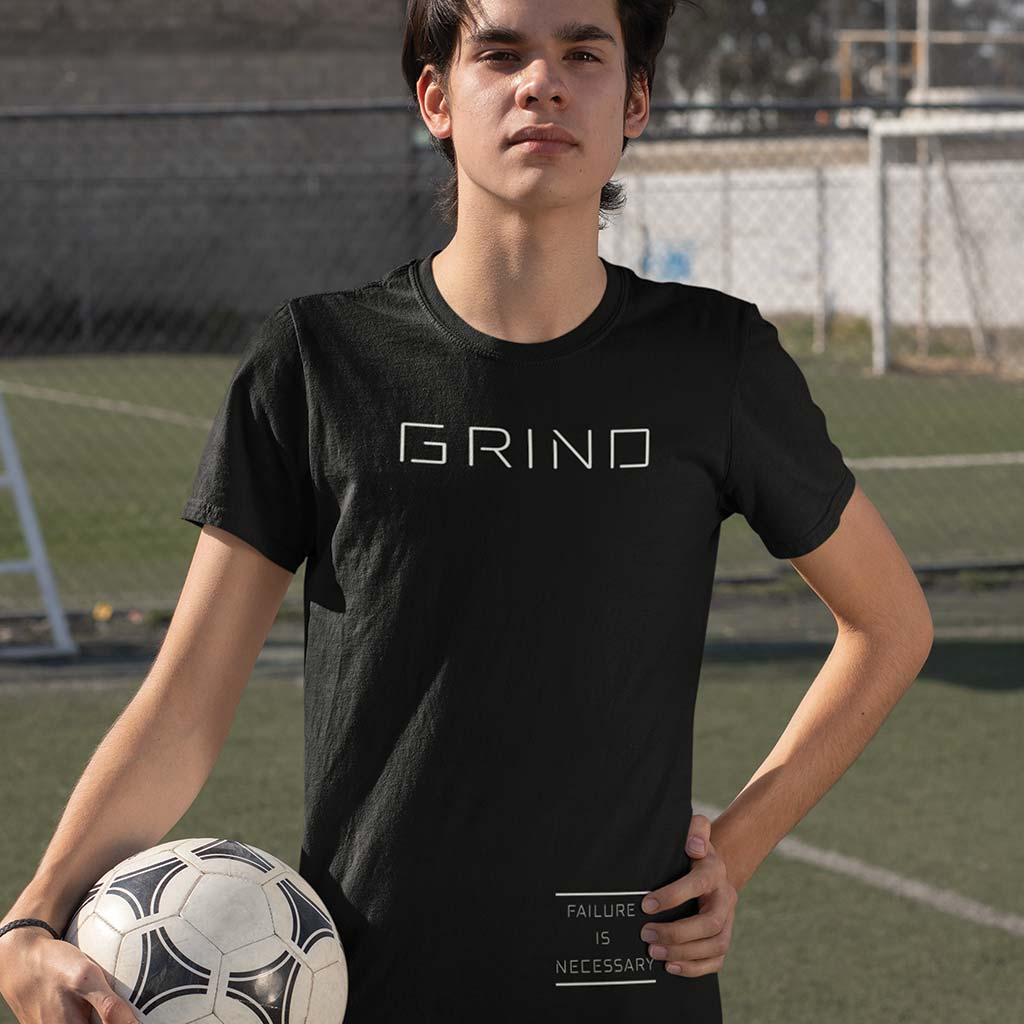 MEN'S GRIND TEE - Black by Grind Legacy Apparel. Educate, Execute, Endure, and Empower.