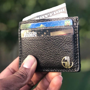 Leather Wallet by Grind Legacy Apparel. Educate, Execute, Endure, and Empower.