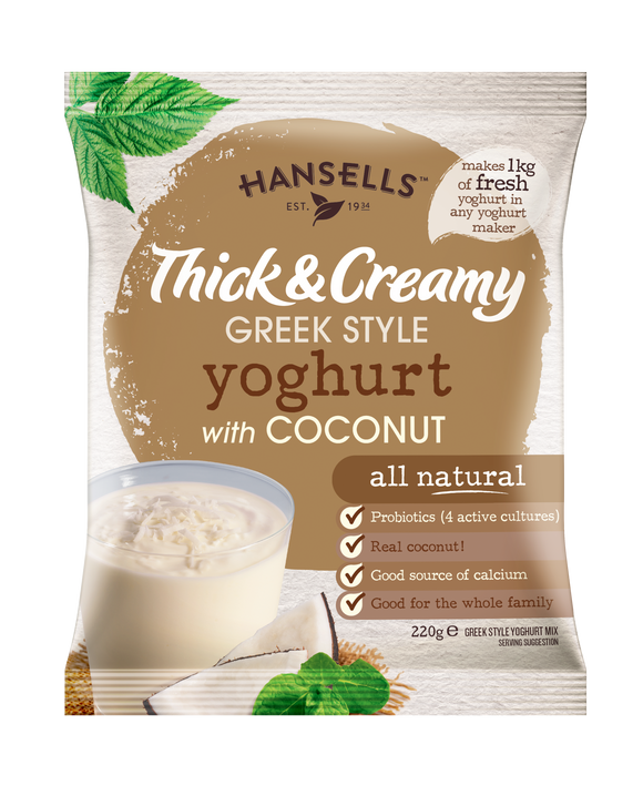 Thick & Creamy Coconut Yoghurt with Bits - Hansells Yoghurt UK