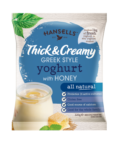 Thick & Creamy Greek Style Honey Yoghurt - Hansells Yoghurt UK