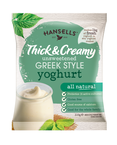Thick & Creamy Unsweetened Greek Style Yoghurt - Hansells Yoghurt UK