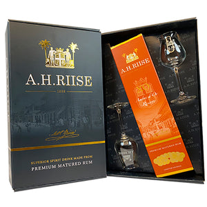 A.H. RIISE X.O. AMBRE D'OR RESERVE MED 2 GLAS