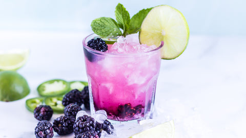 Keto Cocktail 4th of July Spicy Blackberry Smash