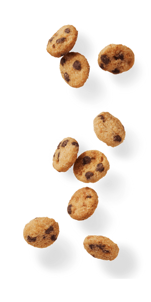 HighKey Mini Cookies Chocolate Chip Falling