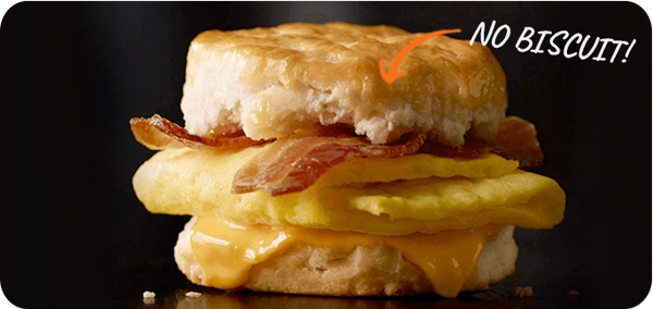 Best Keto Fast Food Options, Bacon Egg and Cheese