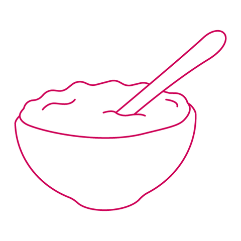 sugar free cereal bowl with spoon
