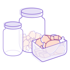 meal prep made easy with see through glass containers in varying sizes