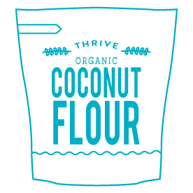 Flour substitutes icon for Coconut Flour in HighKey blue