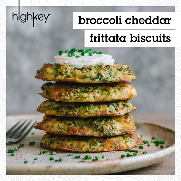 Frittata Recipe, Broccoli Cheddar Biscuits, World Egg Day Recipe, HighKey Snacks