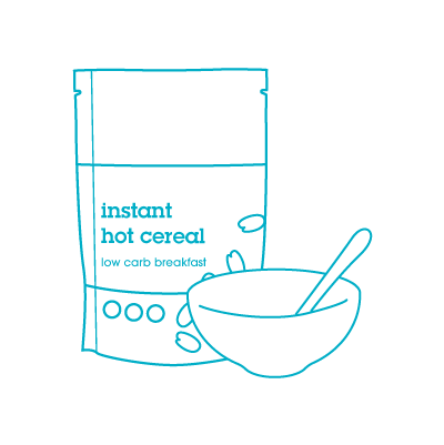 keto breakfast hot cereal icon